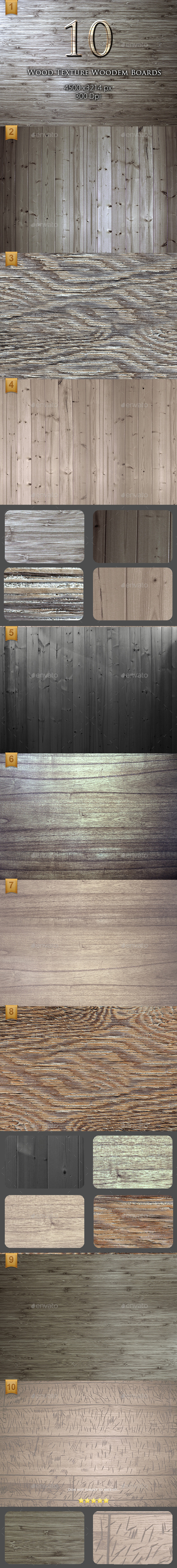 GraphicRiver 10 Wood Texture Wooden Boards 9692122