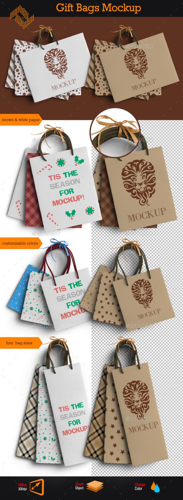 GraphicRiver Gift Bags Mockup 9692134
