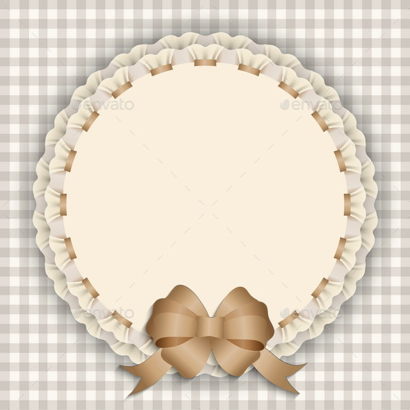 Gift Card with Lace and Ribbon