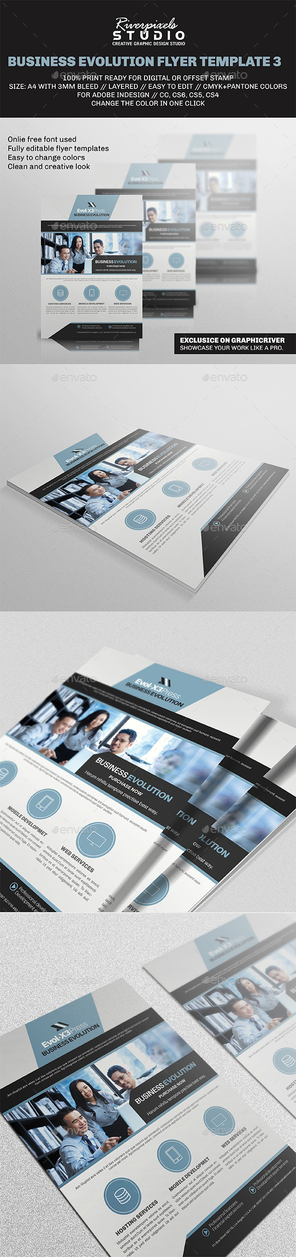 GraphicRiver Business Evolution Flyer Template III 9692185
