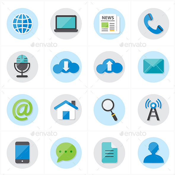 GraphicRiver Flat Icons For Web and Internet Vector 9692356