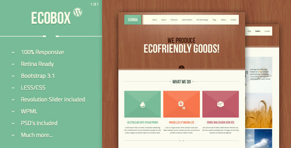 Ecobox - Responsive WordPress Theme - Environmental Nonprofit