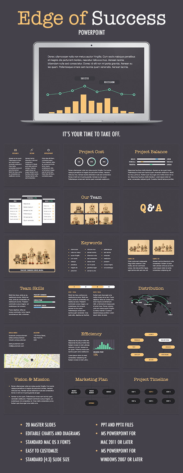 GraphicRiver Edge Of Success PowerPoint Template 9692450