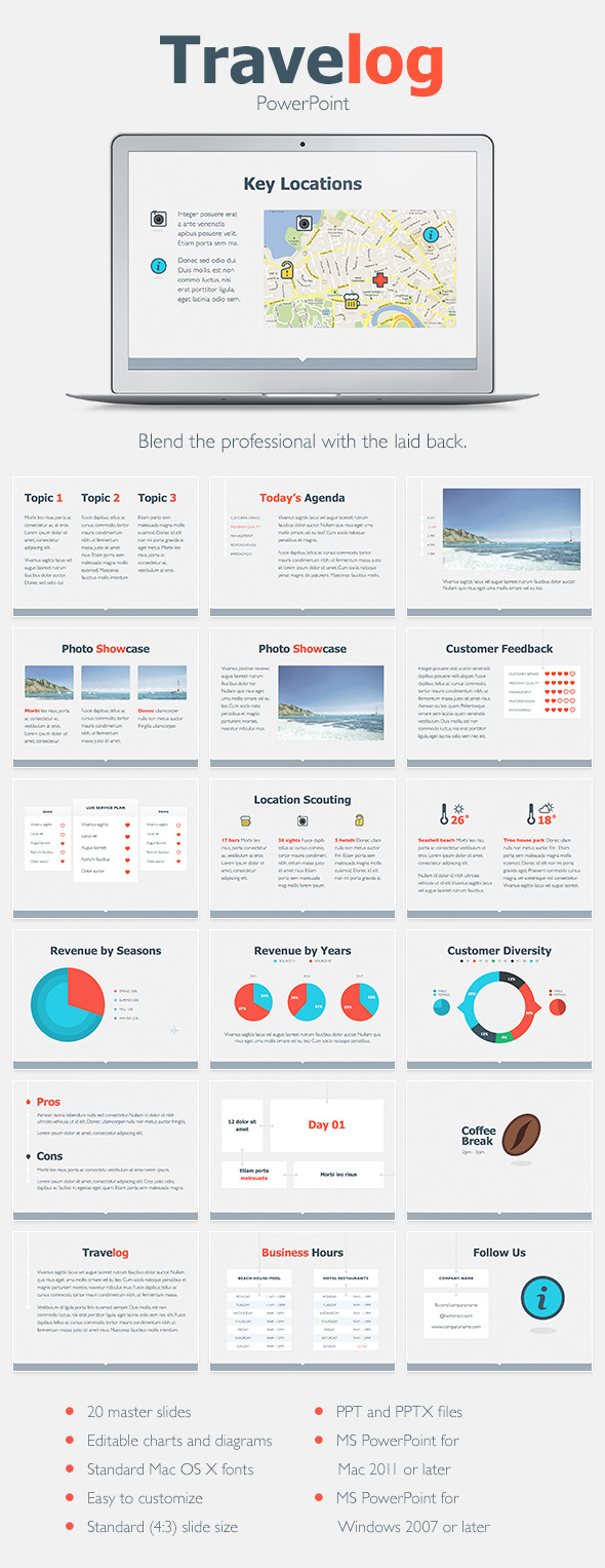GraphicRiver Travelog PowerPoint Template 9692487
