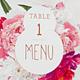 Floral Wedding Menu - GraphicRiver Item for Sale