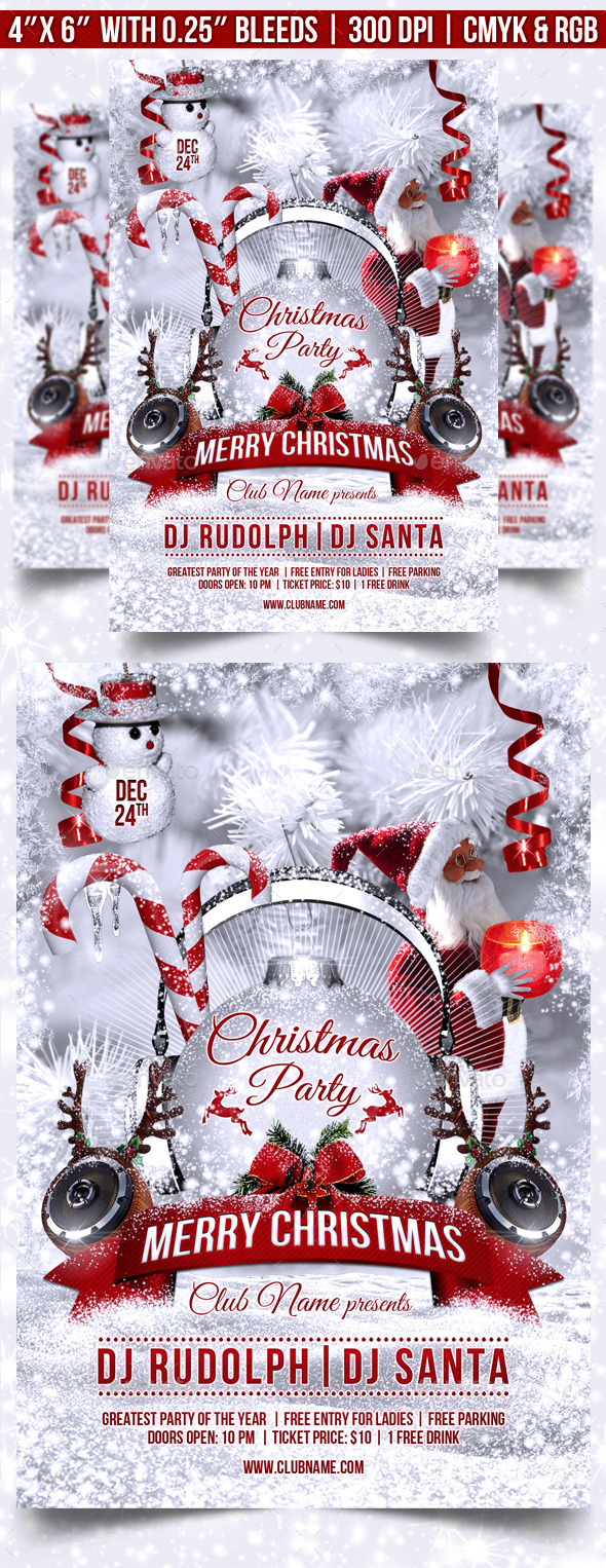 GraphicRiver Christmas Party Flyer Template 9692904