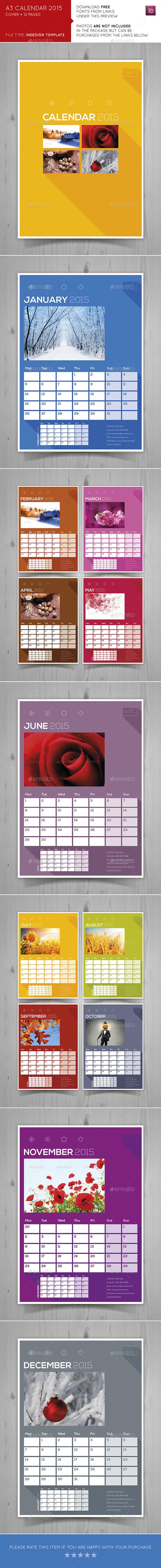 GraphicRiver A3 Calendar 2015 9692907