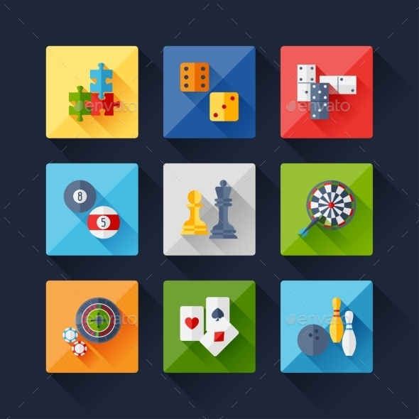 GraphicRiver Set of Game Icons 9692922