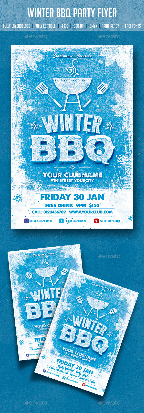 GraphicRiver Winter BBQ Party 9692926