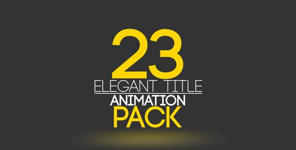 23 Elegant Title Animation