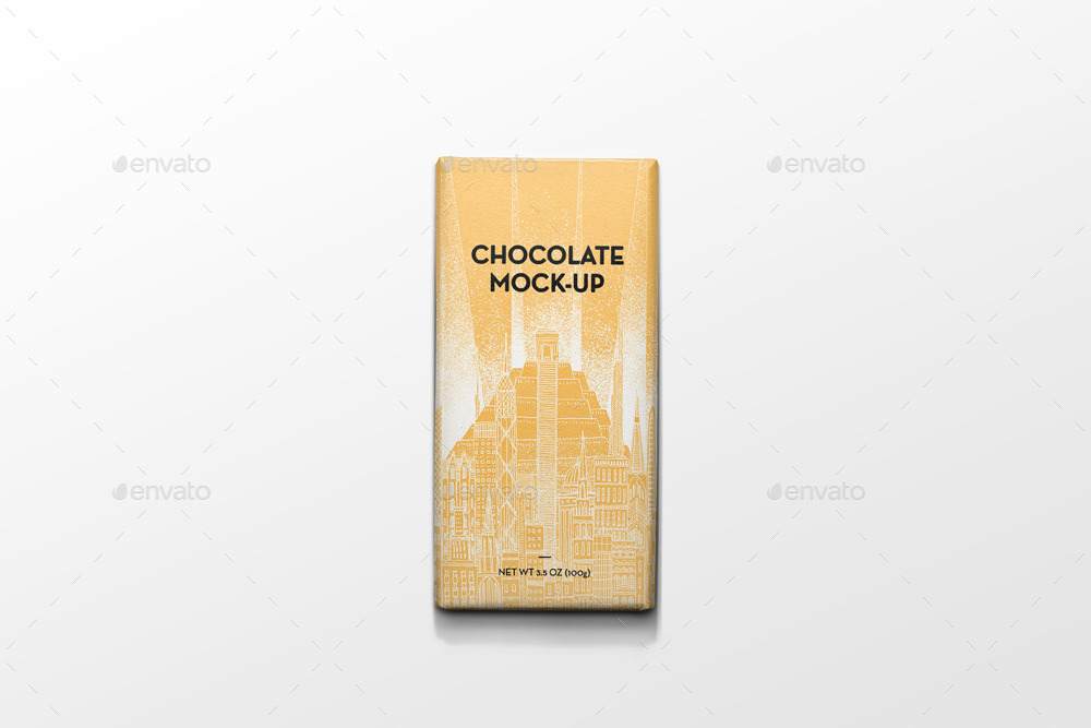 packaging chocolate mock