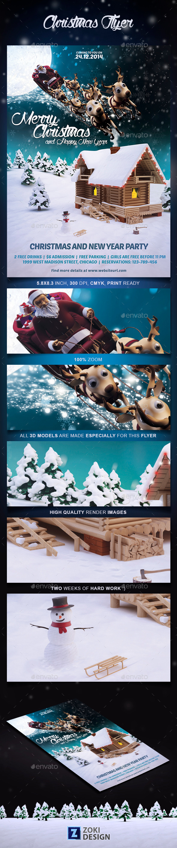 GraphicRiver Christmas Flyer Template 9693133