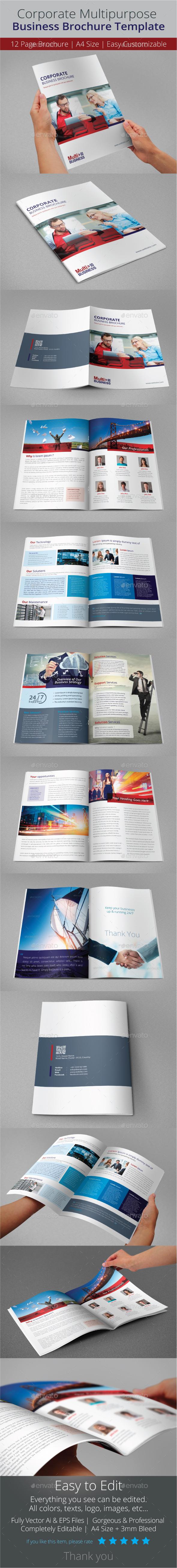 GraphicRiver Corporate Multipurpose Business Brochure Template 9693190