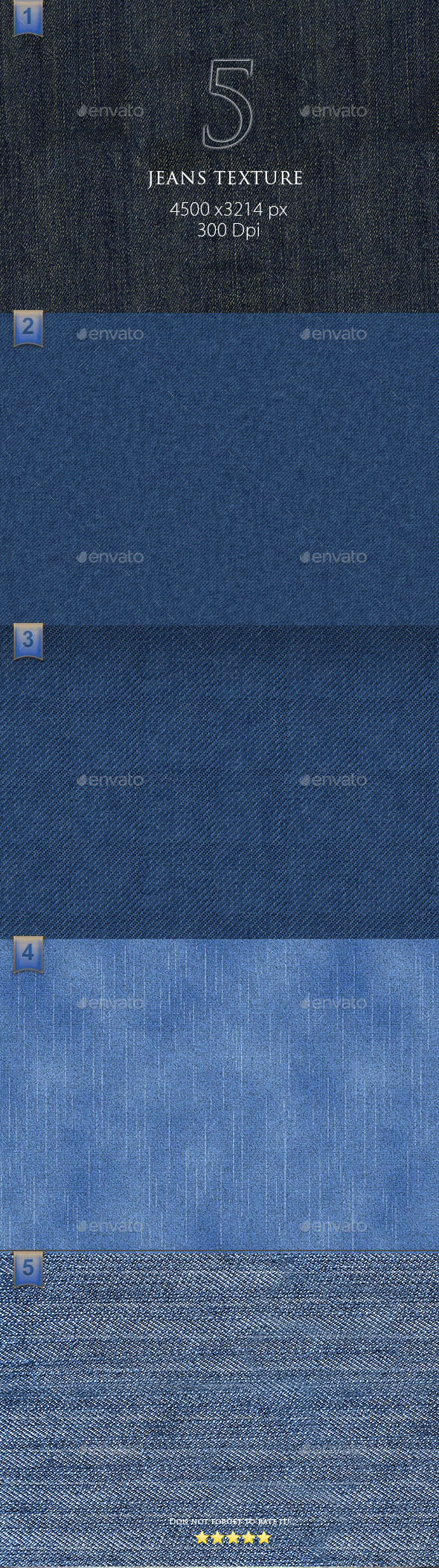 GraphicRiver 5 Jeans Texture 9693191