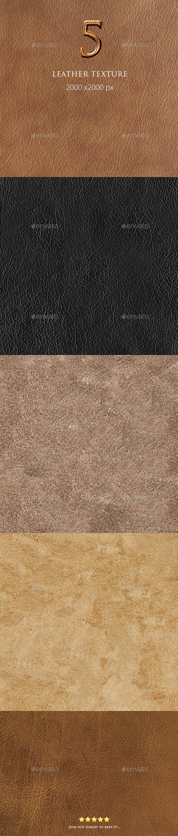 GraphicRiver 5 Leather Texture 9693212