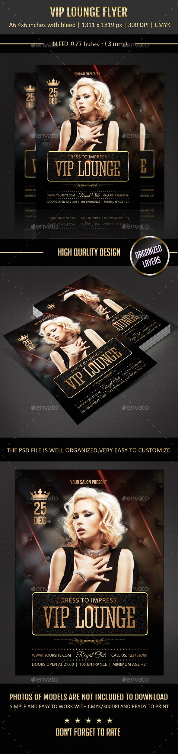 GraphicRiver Vip Longe Flyer 9693227