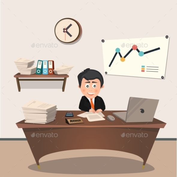 GraphicRiver Office Manager at the Workplace 9693250