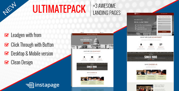 ThemeForest Ultimate Pack Instapage Landing Pages For Law 9491707