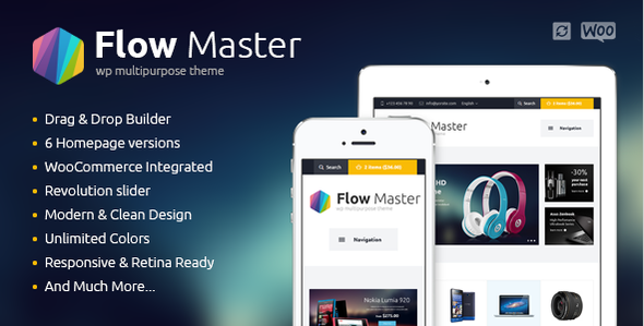 ThemeForest FlowMaster Electronics Shop WooCommerce Theme 9609959