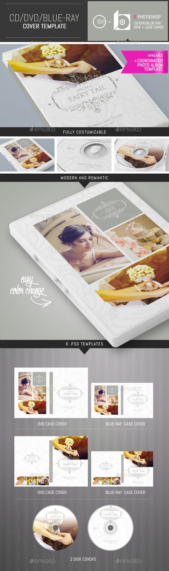 GraphicRiver Elegant Wedding DVD CD Cover Template 9693368