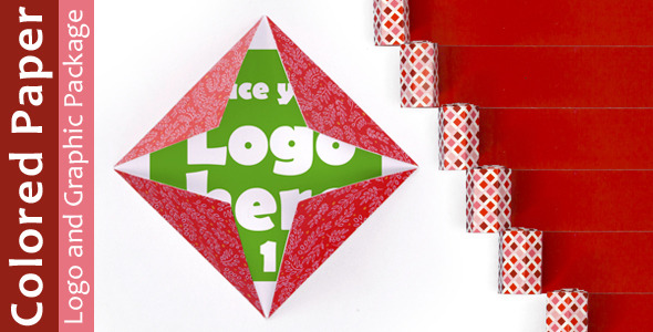 Colored Paper Logo and Graphic Package