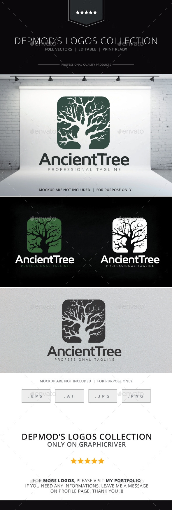 GraphicRiver Ancient Tree Logo 9693448