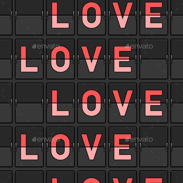 GraphicRiver Love Flip Board 9693454