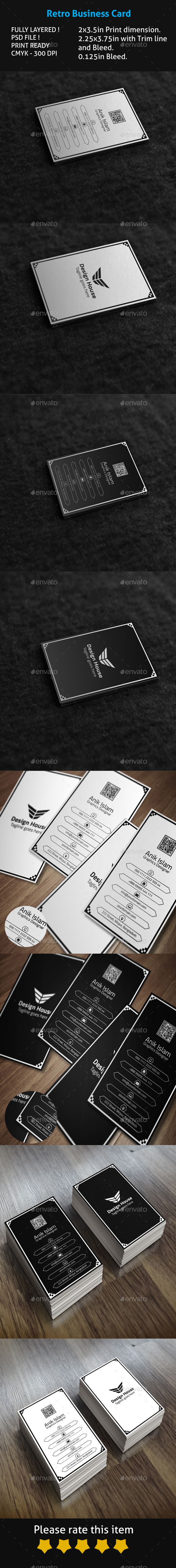 GraphicRiver Retro Business Card 9693586