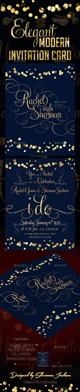 GraphicRiver Classy Modern Wedding Invitation 9693759