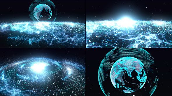 Particle Galaxy Background Pack