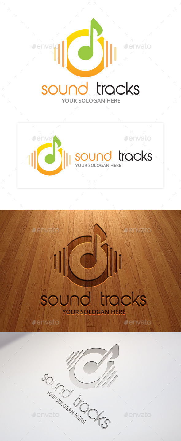 GraphicRiver Sound Track Logo Template 9693831