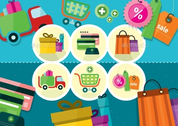 GraphicRiver Shopping Icons 9693955
