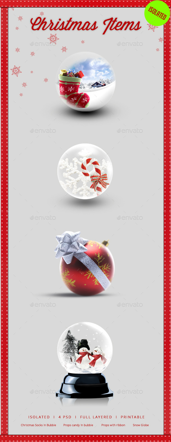 GraphicRiver Christmas Isolated Items 9693957
