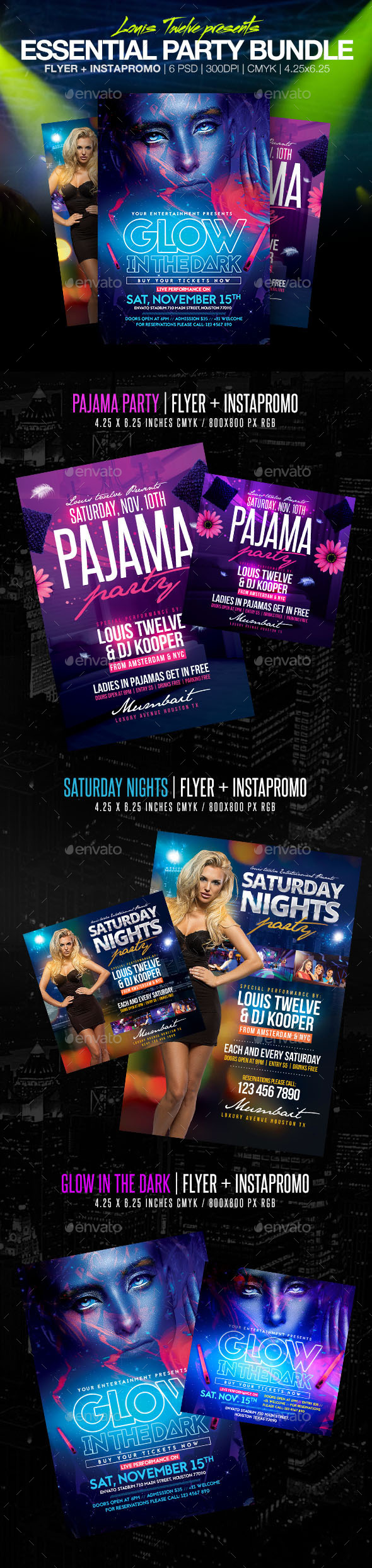Essential Party Bundle Flyers & Instapromos