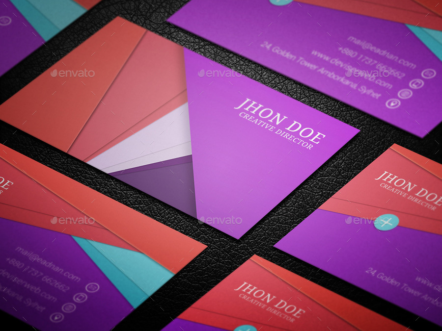 material design business card template by rtralrayhan graphicriver. Black Bedroom Furniture Sets. Home Design Ideas