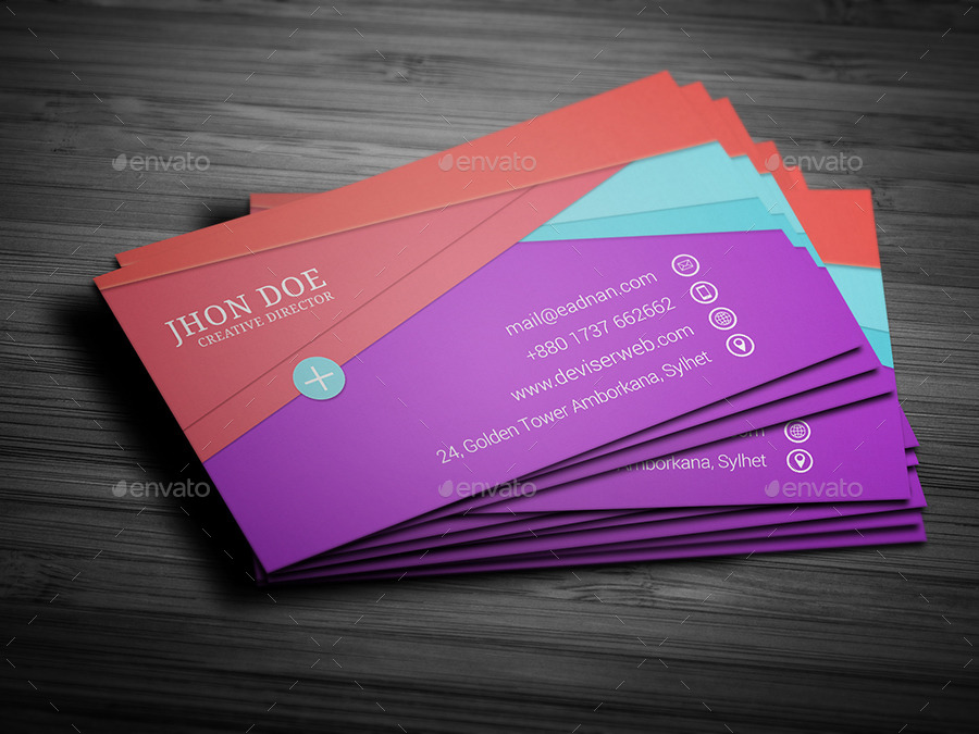 Material design business card template by rtralrayhan for Business card material