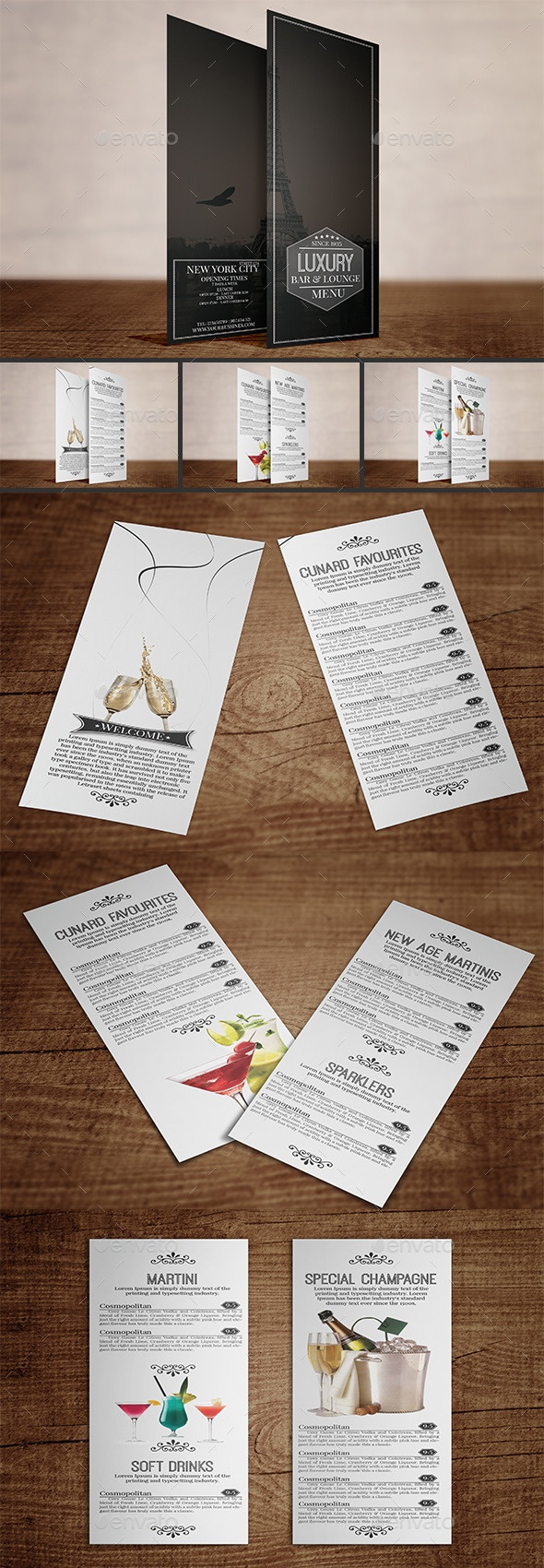 GraphicRiver Luxury Bar&Lounge Menu Volume 2 9643363