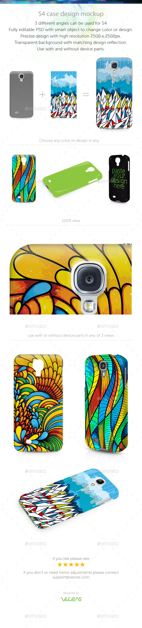 GraphicRiver S4 Case Design Mockup 9694012