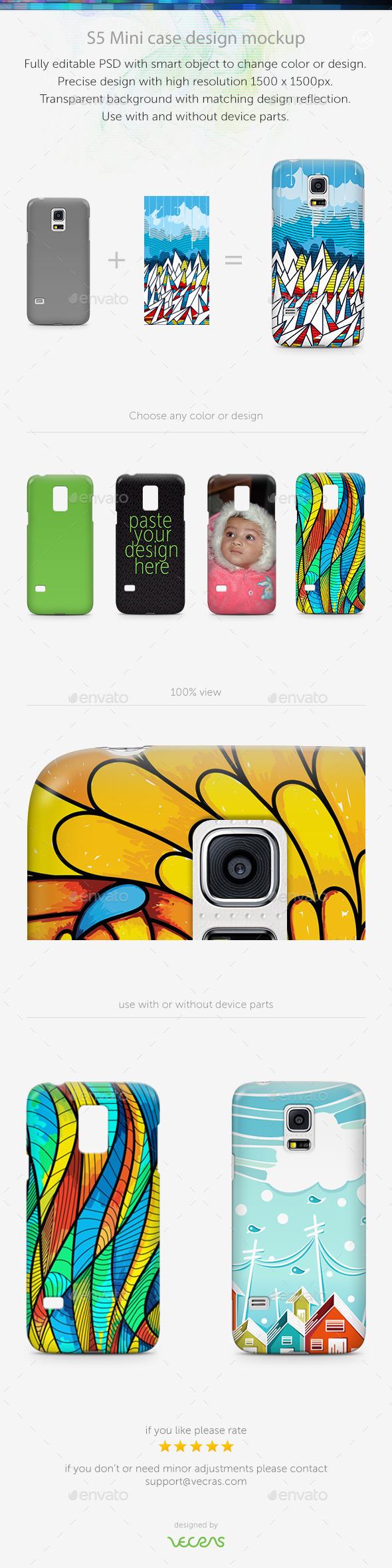 GraphicRiver S5 mini Case Design Mockup 9694015