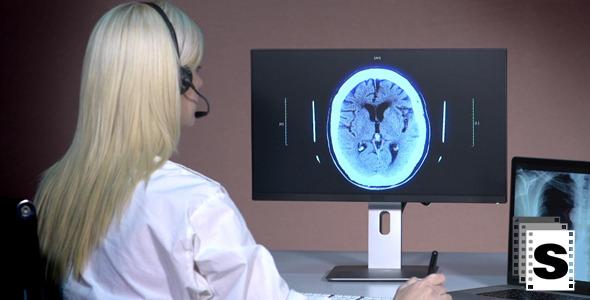 VideoHive Female Doctor Telemedicine 9694125