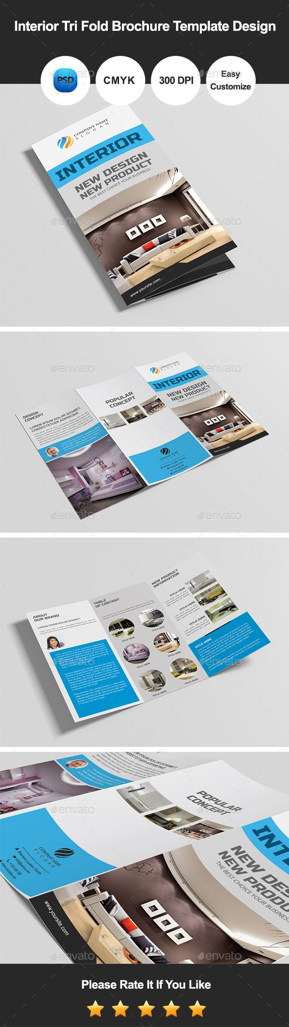 GraphicRiver Interior Tri Fold Brochure Template Design 9694137