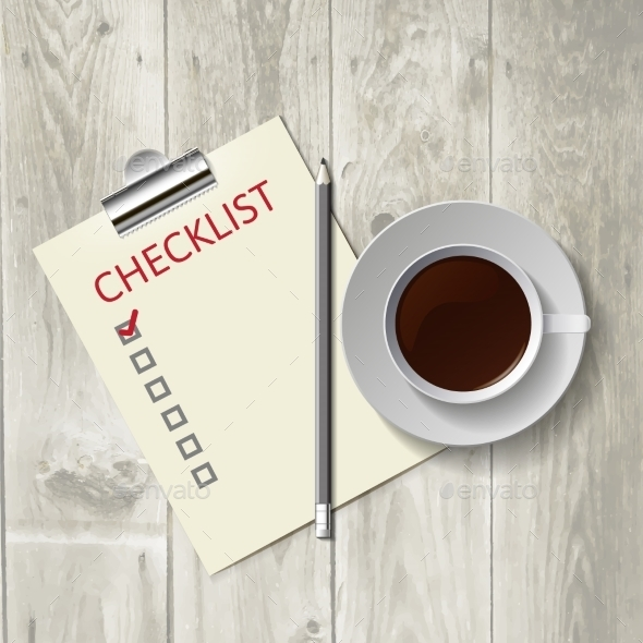 GraphicRiver Coffee and Checklist 9694175