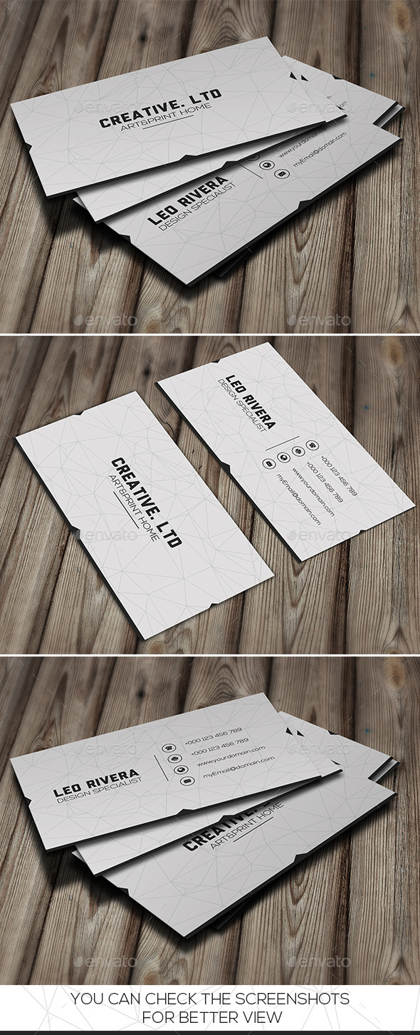 GraphicRiver White Minimal Business Card 9694194