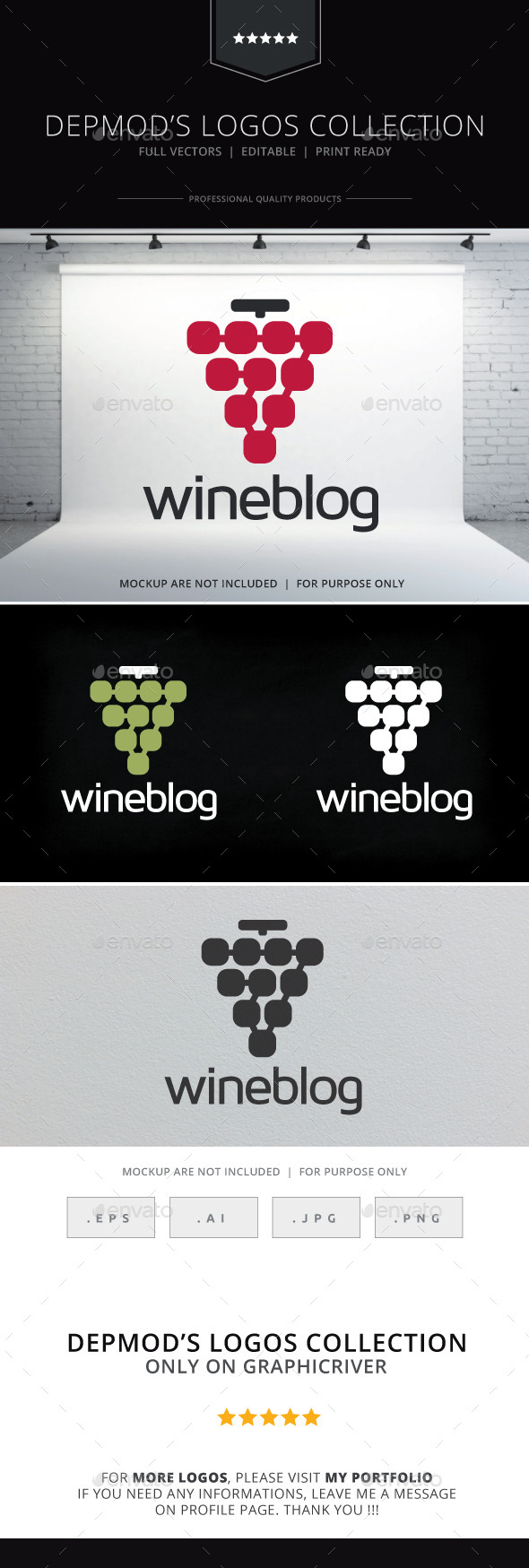 GraphicRiver Wine Blog Logo 9694380