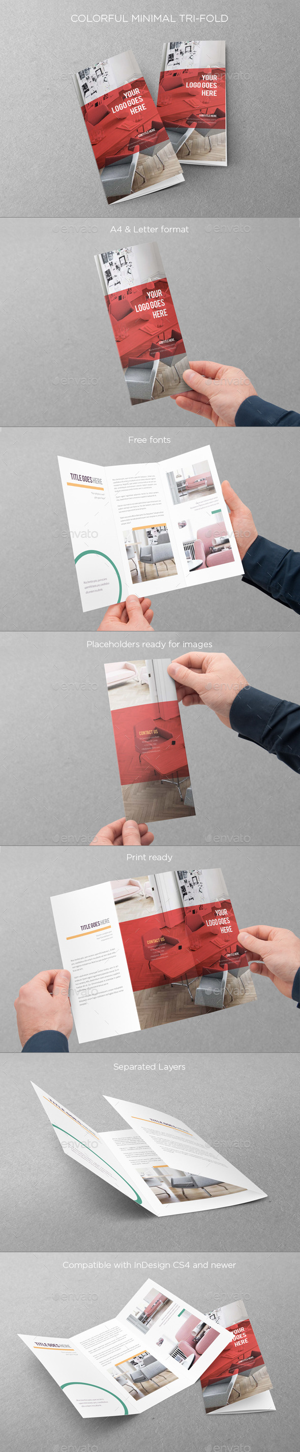 GraphicRiver Colorful Minimal Trifold 9694408