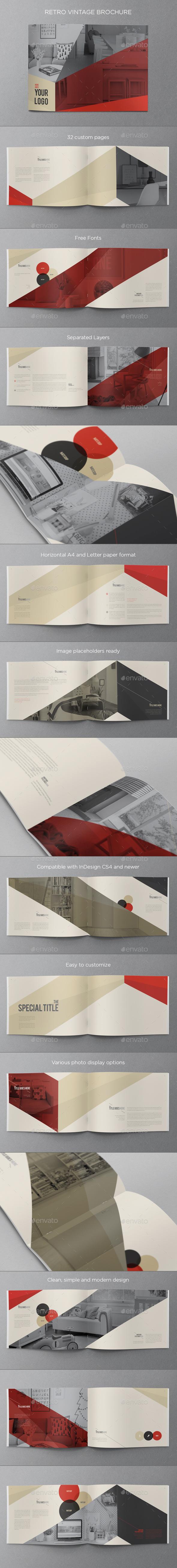 GraphicRiver Retro Vintage Brochure 9694833