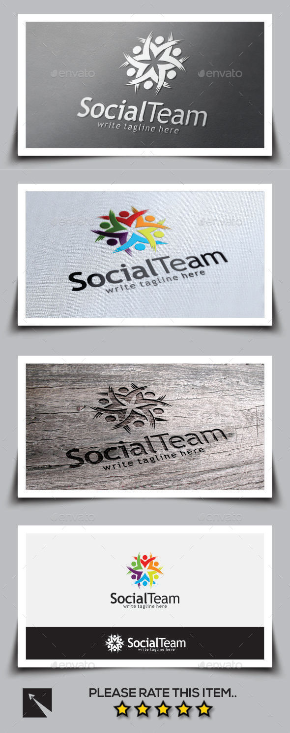 GraphicRiver Social Team Logo Template 9694850