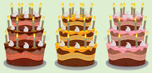 GraphicRiver Three Tier Birthday Cake 9694946