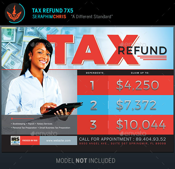GraphicRiver Tax Refund Flyer Template 9694959