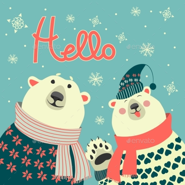 GraphicRiver Polar Bears Say Hello 9695167